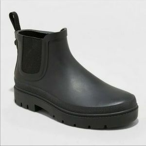 NEW Universal Thread Kaden Rain Boots Black 7 10